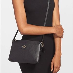 COACH 'journal' pebbled leather crossbody bag